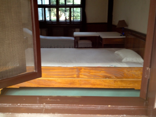 Mao's bedroom at his 11 day retreat house in Shaoshan
